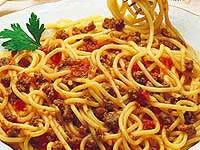 Spaghete cu sos de rosii si ciuperci