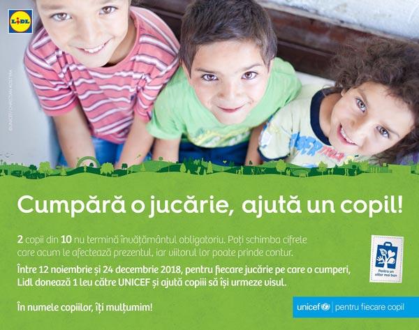 educatie copii defavorizati UNICEF LIDL