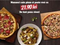 """Pizza Hut relansează oferta Pizza Festival, cu un """"invitat"""" special: pastele"""